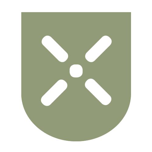 Das Logo des Fachbereichs Planen und Bauen invers
