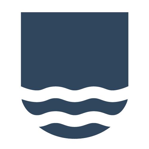 Das Logo der Gemeinde Binz invers