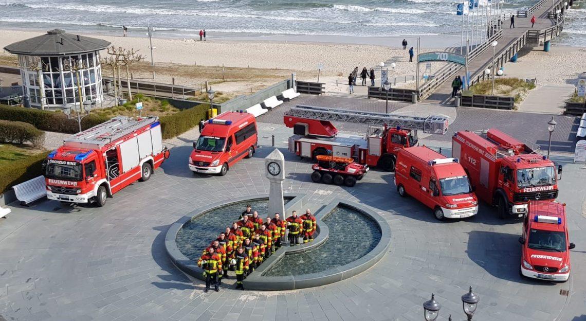 Die Feuerwehr der Gemeinde Binz.