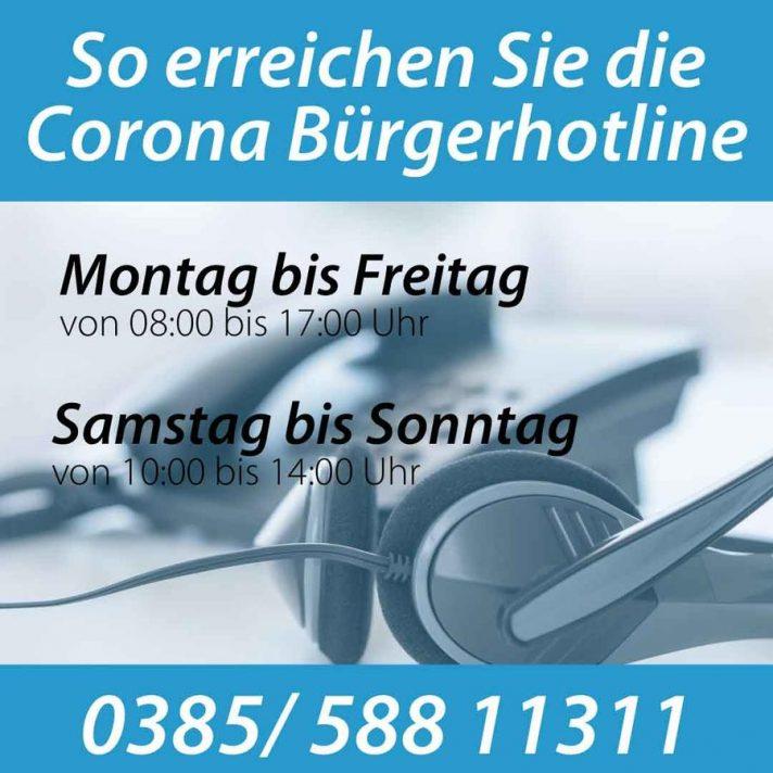 Die Corona-Hotline erreichen Sie über die Nummer 0385 58811311