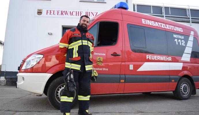 Bild zum Artikel Binzer Feuerwehr-Chef begeht großes Jubiläum